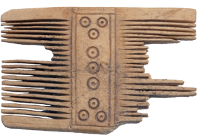 Bone comb discovered on Bribirska glavica; 4th century CE