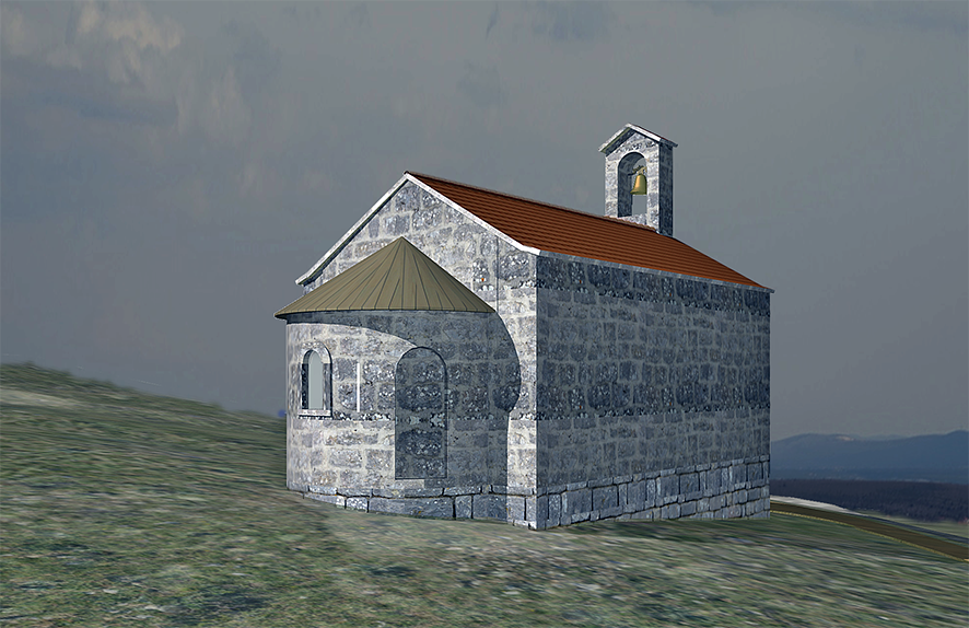 Reconstruction of the Vratnice church