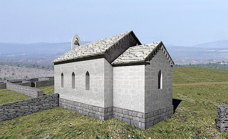 Reconstruction of the Tjeme church