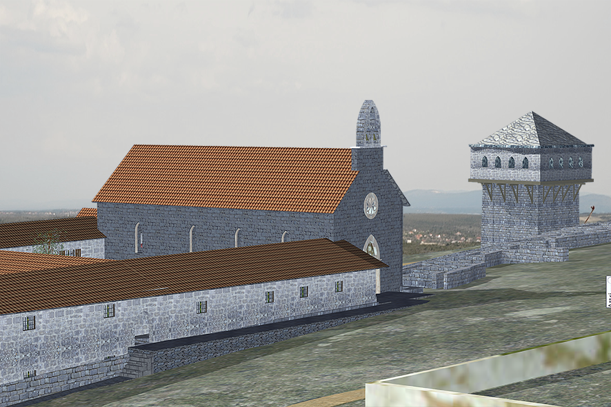 Reconstruction of the Church of St Mary and Franciscan monastery at Dol