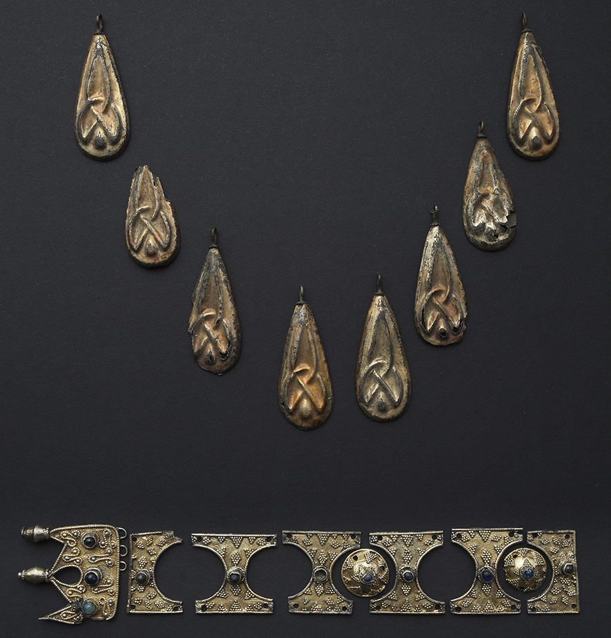 Byzantine silver gilt decoration for clothing; 12th century