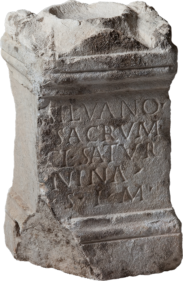 Votive altar dedicated to Silvanus by Claudia Saturnina; 2nd century