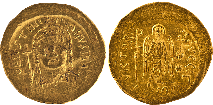Solidus minted under Justinian I