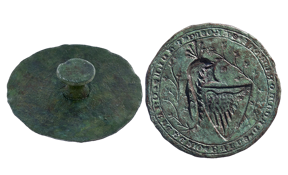 Seal of Paul I Šubić, found in Zadar; early 14th century